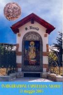 Italia 2003 Cartolina Illustrata Gruppo Alpini Mezzolombardo Inaugurazione Capitello S. Nicolò - Monumenti