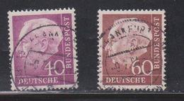 GERMANY Scott # 713, 715 Used - President Theodore Heuss - [7] Federal Republic