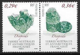 TAAF 2012 N° 602/603 Neufs Minéraux - Unused Stamps