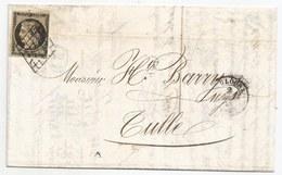 - Hte GARONNE - TOULOUSE - Grille Noire S/TPND N°3 + Càd T.15 - 1849 - 1849-1850 Cérès
