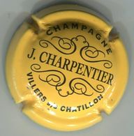 CAPSULE-CHAMPAGNE CHARPENTIER J. N°10 Jaune & Noir - Champagnerdeckel