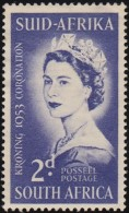 SOUTH AFRICA - Scott #192 Coronation Of Queen Elizabeth II / Mint H Stamp - South Africa (...-1961)