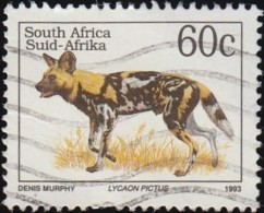 SOUTH AFRICA - Scott #859 Lycaon Pictus / Used Stamp - Stamps