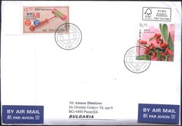 Mailed Cover (letter) With Stamps Flora 2017 Toys 2016  From Hong Kong  To Bulgaria - 1997-... Région Administrative Chinoise