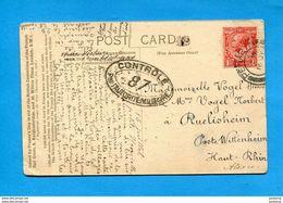 Guerre 14-18-carte -croix Rouge Anglaise -red Cross-ARMENTIERES  - Voyagé  >G B >Françe Censure - Guerre De 1914-18