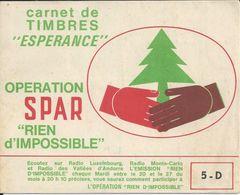 SPAR CARNET DE TIMBRES ESPERANCE OPERATION SPAR RIEN D IMPOSSIBLE AVEC TIMBRES POULAIN CAFE LEGAL KREMA PANZANI BISCUITS - France