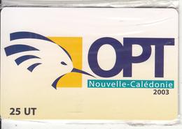 NEW CALEDONIA(chip) - OPT Logo, Tirage 5000, 02/03, Mint - New Caledonia