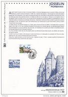""" JOSSELIN MORBIHAN "" Sur Document Philatélique Officiel De 2008.  N° YT 4281. DPO - Postdokumente"