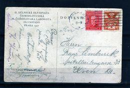 198-CZECHOSLOVAKIA-1927-DOPISNICE -POSCARD - Lettres & Documents