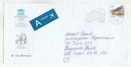 2001 BELGIUM Illus ADVERT COVER Dept Plantengenetica PLANT GENTICS  University To GB Airmail Label Bird Stamps - Belgium