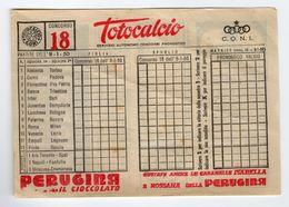1 Schedina Totocalcio 8 Gennaio 1950 Concorso 18 Non Scritta Coni - Vecchi Documenti
