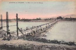 Chalampé Canton Illzach Pont De Bateaux Sur Le Rhin Vers Neuenburg - Chalampé