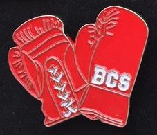 GANTS DE BOXE ROUGE - BCS - SUISSE - SWISS - SCHWEIZ   -   (ROSE) - Boxing