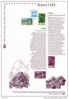 """"""" UNESCO 2008 """" Sur Document Philatélique Officiel N° YT SERV 140 141. (Prix à La Poste = 5 €) DPO - 2000-2009"""
