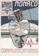 MONACO - CARTE MAXIMUM COMMUNICATIONS 1988 - CACHET ROND PREMIER JOUR 21.4.88 / 2 - Cartas Máxima
