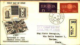 88676) Irlanda-fdc-europa Cept 1960- 19/9/1960-serie Completa - FDC