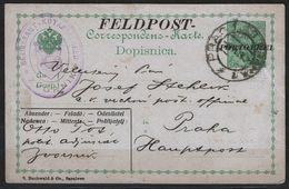 1915 Bosnia Austria Hungary KuK K.u.K Feldpost Militarpost - Portofrei STATIONERY POSTCARD Due Porto Free ZVORNIK Praha - Bosnië En Herzegovina