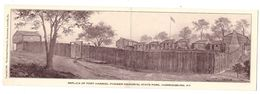 USA KY Harrodsburg Fort Harrod Pioneer Memorial State Park Cpa Double Carte - Etats-Unis