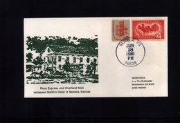 USA 1980 Pony Express And Overland Mail - Post