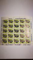 """Bloc 50 Timbres """"of Mamed Flight"""" 1783-1983+guyana+papillon+Timehri Airport +avion - Airplanes"""