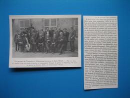 (1912) Un Groupe De Français Et D'Alsaciens-Lorrains, à SAINT-MIHIEL (Le 14 Juillet Des Annexés) - Old Paper