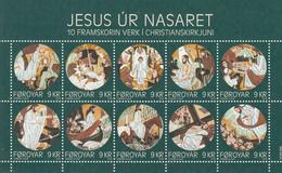 2016 Faroe Christmas Noel Miniature Sheet Of 10 Complete MNH @ 60% Of Face Value - Christmas