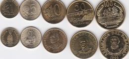 Paraguay - Set 5 Coins 1 5 10 50 100 Guaranies 1992 - 1996 AUNC+/ UNC Lemberg-Zp - Paraguay