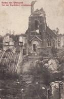 AK Kirche Von Gheluvelt - Von Den Engländern Zerschossen - Feldpost R.-I.-R. No. 24 - 31.12.1915 (33514) - Ieper