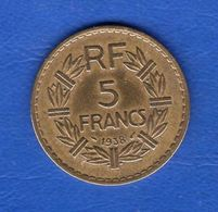 5  Fr  1938  Bronze - France
