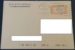 823BIGLIETTO POSTALE SIRACUSANA UTILIZZATO RICOPERTO PRIORITARIA EURO 0,60 21.5.08 - 6. 1946-.. Repubblica