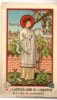 S. Godefroid Comte De Cappenberg Ordre Prémontré Litho Van De Vijvere Bruges S. Godefroid Priez Pour Nous ( Godfried) - Esquela