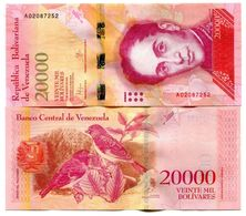 VENEZUELA 20.000 Bolivares 18.8.2016 UNC Prefix A - Venezuela