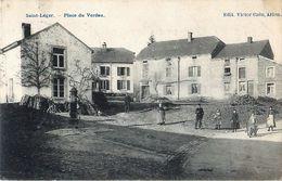 Cpa SAINT LEGER - Place Du Verdau ( Place Du Verdeau Vue De La Voie De Vance ) - Saint-Léger