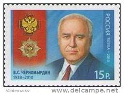 Russia 2013 Mih. 1919 Statesman Viktor Chernomyrdin MNH ** - Unused Stamps