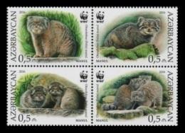 Azerbaïjan 2016 Mih. 1175/78 Fauna. WWF. Manul MNH ** - Azerbaïjan