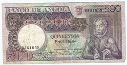 Angola 500 Escudos 1973 Pick 107 Ref 1541 - Angola