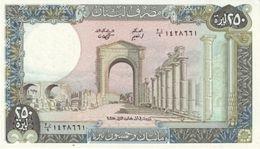 Líbano - Lebanon 250 Livres 1988 Pick 67.eUNC - Líbano