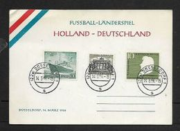 Football Holland - Germany, Souvenir Card  122al DUSSELDORF 14.3.56 C.d.s - [7] Federal Republic