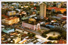 BRASIL, AMAZONAS, MANAUS, VISTA AEREA DO TEATRO AMAZONAS E PRAÇA DE SAO SEBASTIAO  [0474] - Manaus