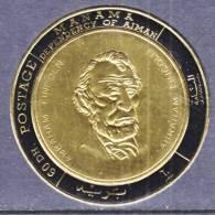 Manama 232   **  ABRAHAM  LINCOLN   GOLD FOIL - Manama