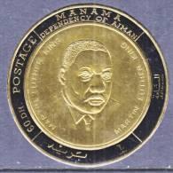 Manama 235   **  MARTIN LUTHER  KING  GOLD FOIL - Manama