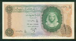 EGYPT / 10 POUNDS / DATE : 2-5-1964 / P- 41 ( 2 ) / PREFIX : 144 / A-UNC. / TUTANKHAMEN / ARCHEOLOGY - Egipto