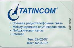 KAZAN,TATARSTAN : 09520 10u TATINCOM 62-02-07 Urmet MINT - Russia