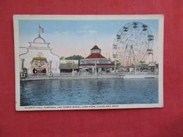Amusement Park Hilarity Hall Carousal Ferris Wheel Luna Park Ohio > Cleveland--   Ref 2868 - Cleveland