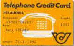 AUSTRIA : OOS1 PTT AUSTRIA TEL.CRED.CARD. 1991 Yellow USED - Austria