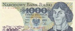 Pologne - Billet De 1000 Zlotych - 1er Juin 1982 - Mikolaj Kopernik - Polonia