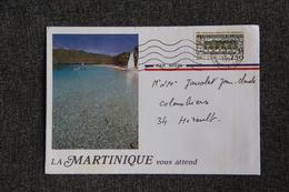 Lettre De LA MARTINIQUE Vers COLOMBIERS - France