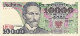 Pologne - Billet De 10000 Zlotych - 1er Décembre 1988 - Stanislaw Wyspianski - Polonia