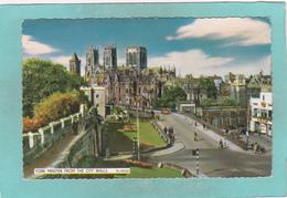Old Postcard Of York Minster And City Walls, England,,K54. - York