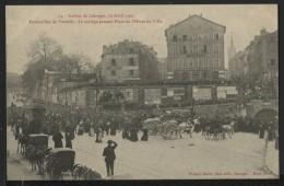 87 LIMOGES - Funérailles De Vardelle , Le Cortège Passant Place De L'hotel De Ville - Limoges